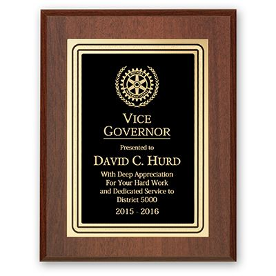Vice Governor Plaque - Club Executive Series