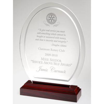 Clear Oval Acrylic Award w/Contour Bevel