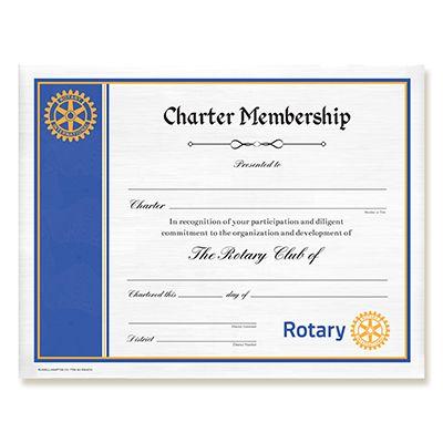 Certificate Of Charter Membership