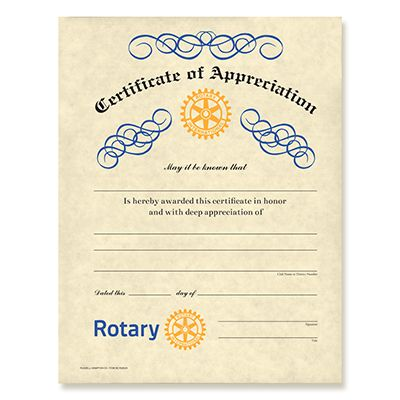 CUSTOMIZED Certificate of Appreciation
