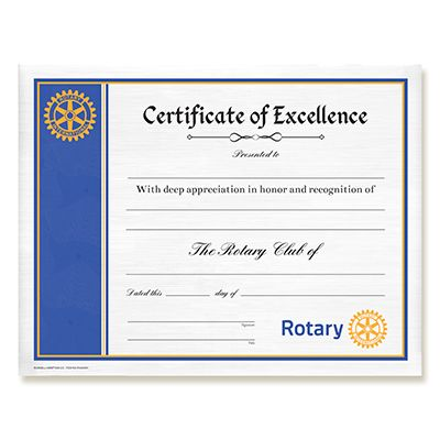 CUSTOMIZED Certificate of Excellence