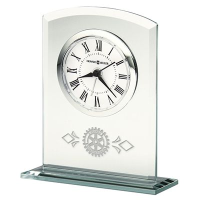 Alarm Clock in Beveled Glass with Glass Base