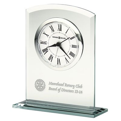 Custom Alarm Clock in Beveled Glass with Glass Base