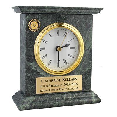 Heavy Green Marble Mantel Clock