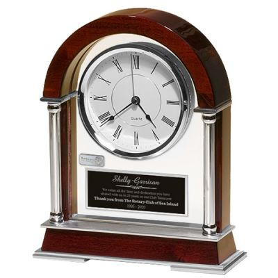 Rosewood Piano-Finish Mantle Clock