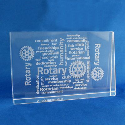 Vitues of Rotary Horizontal Paperweight. 120 X 90 X 10/25 mm.