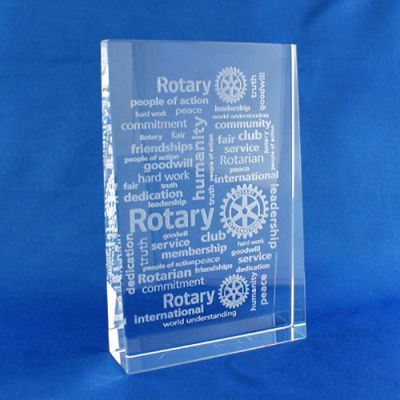 Virtues of Rotary Vertical Paperweight. 100 X 150 X 10/25 mm.