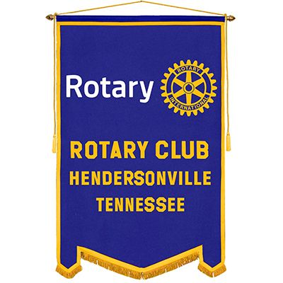 4' x 6' Custom Rotary Felt Banner -MasterBrand  Logo