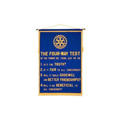 4' x 6' Premium Wool Felt Four-Way Test Banner