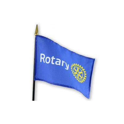 "4"" x 6"" Miniature Rotary International Masterbrand Flag"