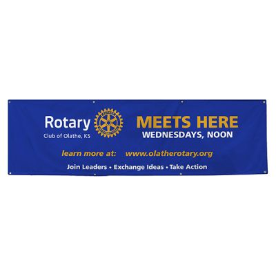 Custom 3' x 8' Vinyl Indoor or Outdoor Banner with Grommets