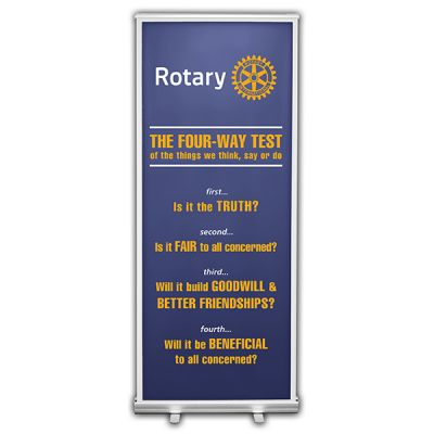 Four-Way Test Retractable Banner