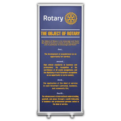 Object of Rotary Retractable Banner