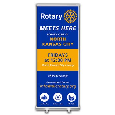 Customized Retractable Banner, Rotary Meets Here