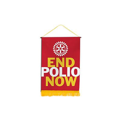 "End Polio Now 18"" x 26"" Podium Banner"