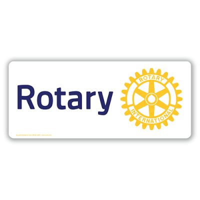 Magnetic Car Sign - Rotary Masterbrand
