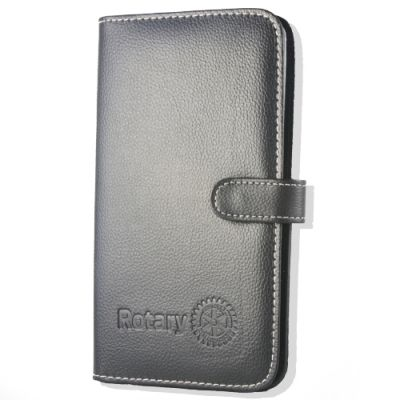 Debossed Business Card Case with Rotary Masterbrand