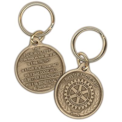 The Four-Way Test Medallion Key Ring