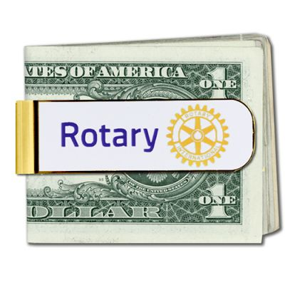 Rotary Masterbrand Signature Logo Money Clip - Silver