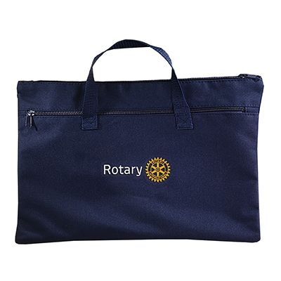 Navy Conference Bag with Zippered Closure