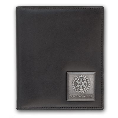 Black Genuine Leather Business Card Caddy