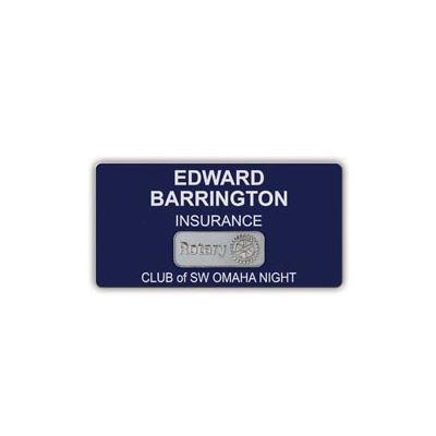 4-Line Custom Engraved Plastic Mini Badge