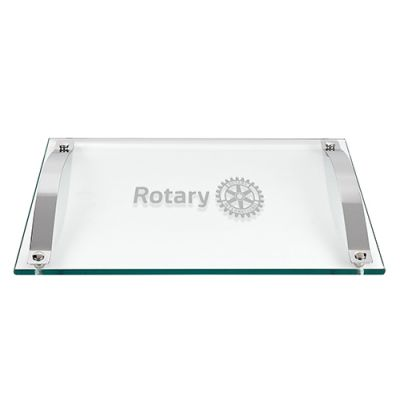Rectangular Thick Glass Serving Tray