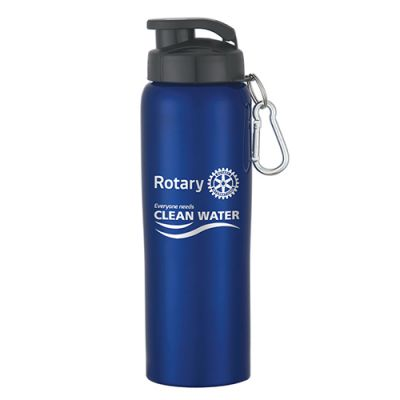 Blue Stainless Steel Water Bottle with Sip-through Lid