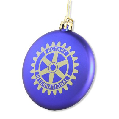 Blue Ornament with Gold Rotary International Logo