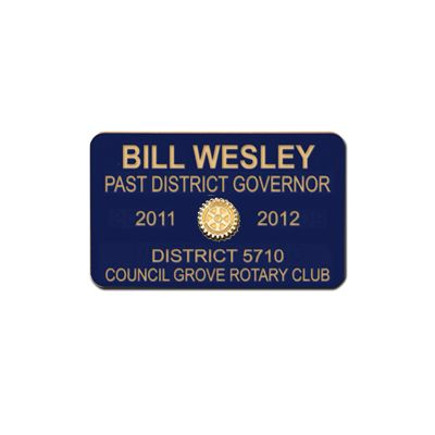 5-Line Custom Engraved Plastic Mini Badge