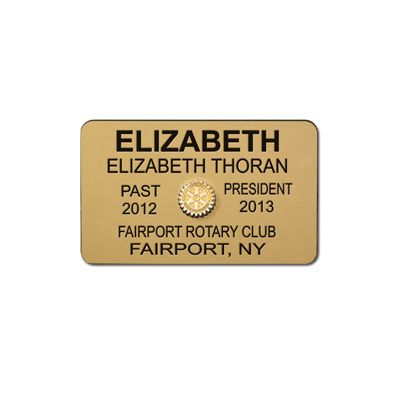 6-Line Custom Engraved Plastic Mini Badge