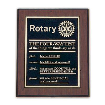 """8"""" x 10"""" Four-Way Test Wall or Desk Plaque"""