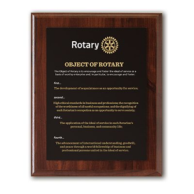 Object of Rotary Deluxe Wall Plaque