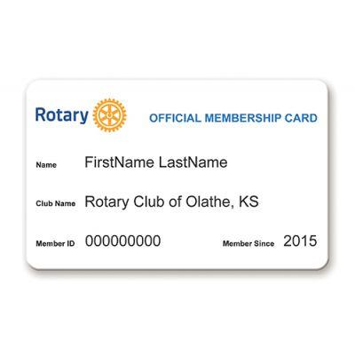 Customized Plastic Rotary International Membership Card