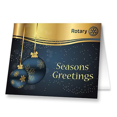 Season's Greetings Card with Envelope - Pack of 10