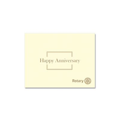 Happy Anniversary Card with Envelope - Pack of 10
