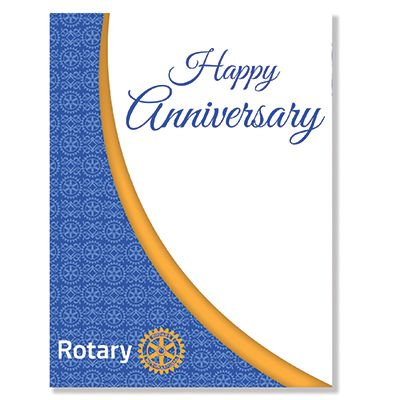 Happy Anniversary -- Rotary Greeting Card - Pack of 10