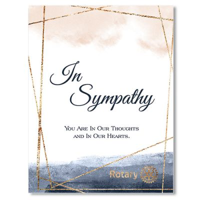Sympathy Card with Envelope - Pack of 10