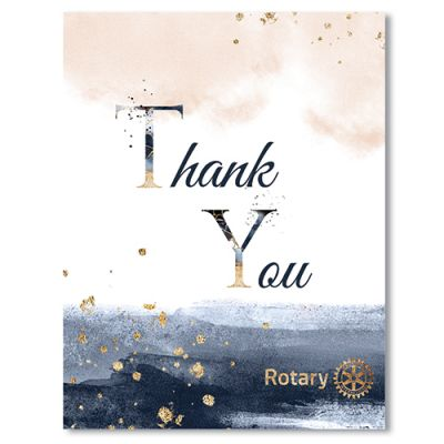 Thank You Card With Envelope - Pack of 10