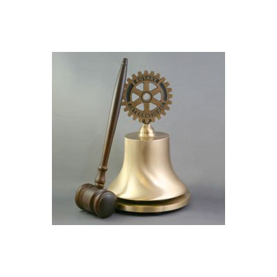 Custom Engraved Cast Bronze Rotary Bell - Deluxe Top