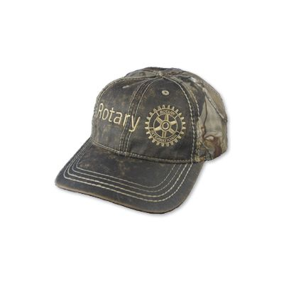 Faux Leathered Brown/Realtree AP Camo Cap