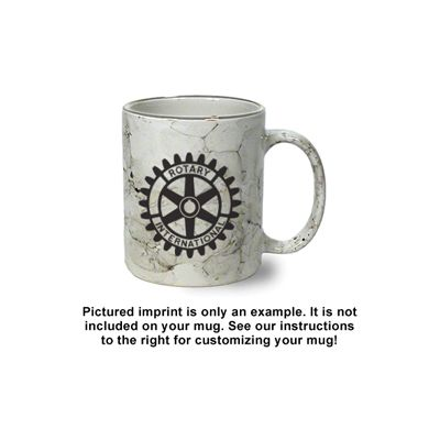 Custom Imprinted Marbleized C-Handle Coffee Mug