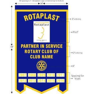 Felt Rotaplast Banner