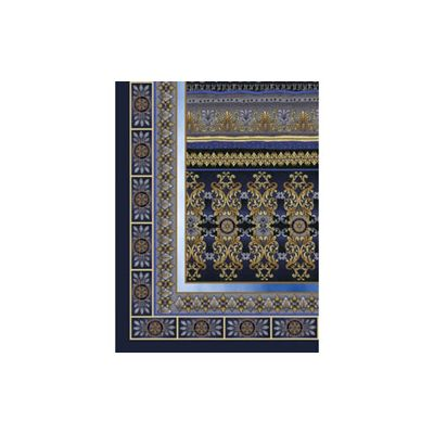 Blue & Gold Designer Silk Scarf