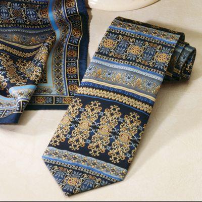 Designer Print Silk Necktie