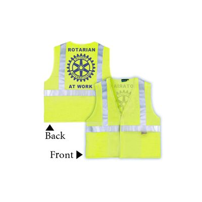 Rotarian At Work Safety Vest - OSHA Safety Yellow