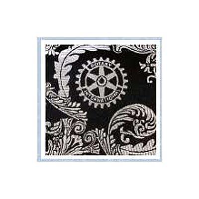 Black & Silver Woven Silk Brocade Necktie