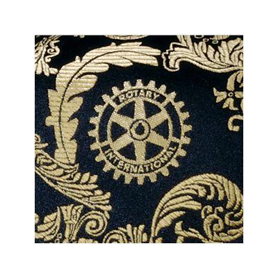 Black & Gold Woven Silk Brocade Necktie