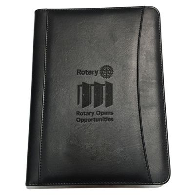 2020-21 Theme Debossed Black Leatherette Portfolio