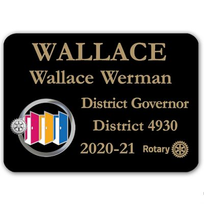 Black Plastic Engraved Badge w/ 2020-21 Theme